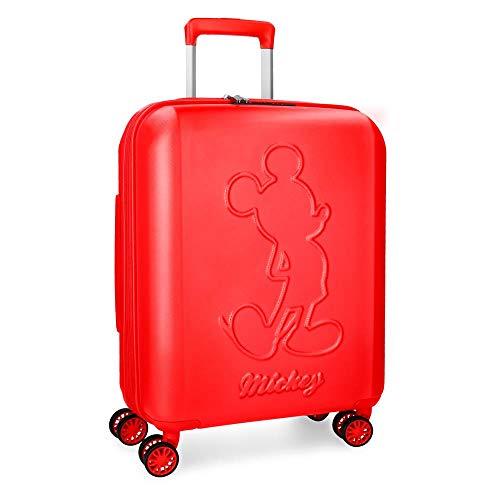 Disney Mickey Premium Maleta de cabina Rojo 40x55x20 cms Rígida ABS Cierre TSA 38L 3,1Kgs 4 ruedas dobles Extensible Equipaje de Mano