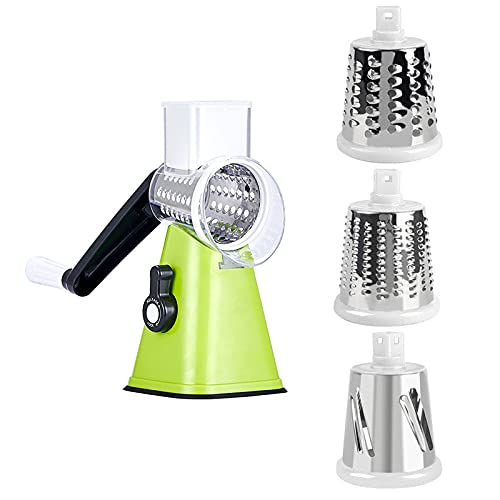 yui graters for kitchen stainless steel Peeler Vegetable Slicer Crusher Manual Mincer Kitchen Accessories Garlic Press Grater Cutter Potato Spiralizer Home Supplies hand grater (Color : Green)