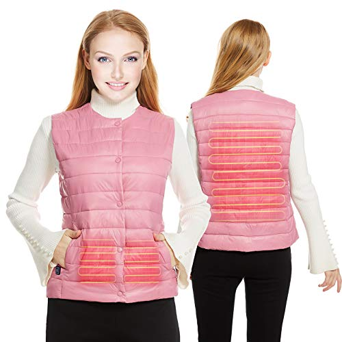 Heated Vest Women, Temp Adjustable Heated Jackets for Women(Without Power Bank