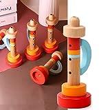 LOVEYue Trompeta De Silbato De Madera, Instrumento Musical Portátil, Juguete Educativo Temprano para Bebés, Juego De Regalo De Juguete Intelectual Niños