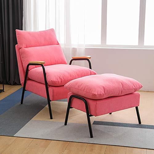 Lazy Lounge Chair Poggiapiedi E Poltrona Glider Poltrona Poggiapiedi Sedia Pieghevole, Regolabile 90 ° -180 ° Forte Capacità Portante Forte Traspirazione, Balcone Singolo Sedia Per Il Tempo Libero