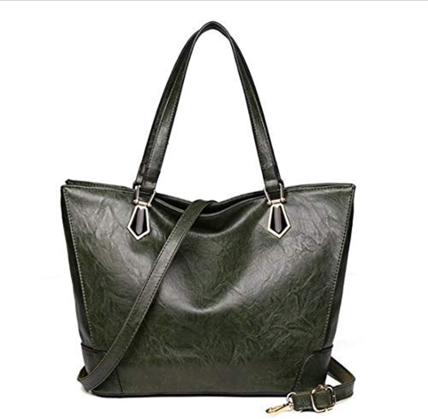 JQSM Solid color Women Shoulder Bags Soft Pu Leather High-Capacity Casual Totes Simple Style Crossbody Bags