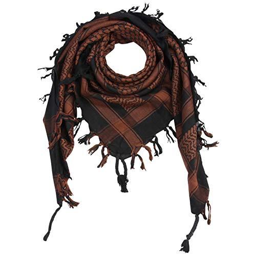 Superfreak Palituch - schwarz - braun - 100x100 cm - Pali Palästinenser Arafat Tuch - 100% Baumwolle