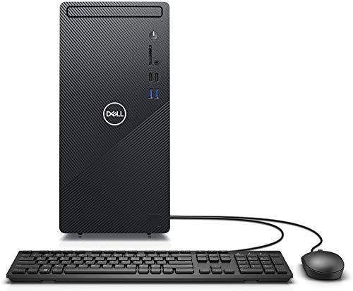 2021 Newest Dell Inspiron 3880 Desktop PC, Intel Core i3-10100 Processor, 8GB RAM, 1TB HDD, WiFi, Bluetooth, HDMI, DVD-RW, Wired Keyboard & Mouse, Win 10 Home, Black