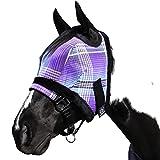 Kensington Fly Mask with Fleece Trim for Horses —...