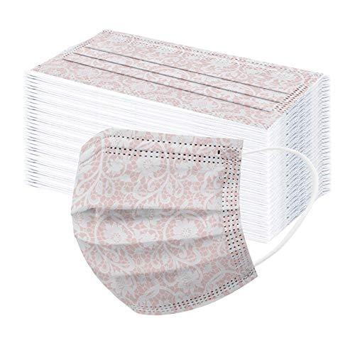 ADOSSAC 2021 Adulte Faciaux_Masques Jetable Face Scarf 3 Couches ÉCharpe Motif Imprimé Bandana Imprimé Dentelle Respirant et Anti-poussière