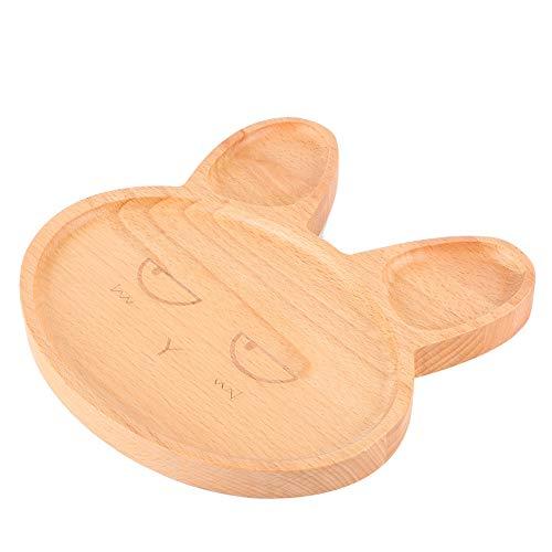 Bandeja para Servir bocadillos Plato de Comida de Orejas largas Plato de Comedor para niños con Forma de Animal de Dibujos Animados Encantador para bebé