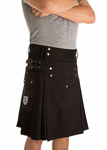 Damn Near Kilt 'Em Men's Sport Utility Kilt Medium-Large Black