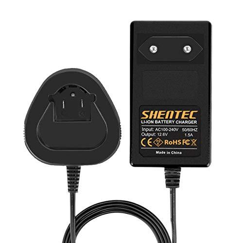 Shentec Cargador de batería Compatible con batería de iones de litio Dremel 12V 8200 8220 8300 B812-02 B812-01 (NO para batería Ni-MH/NI-CD)