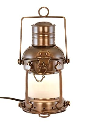 Vermont Lanterns - Electric Nautical Brass Anchor Lamp