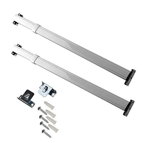 Rod Desyne KSH-1120 Flat Sash Rod (Set of 2), 11-20 inch, White