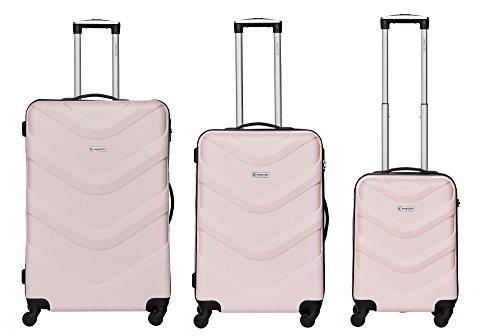 Bannisters New York Kofferset - Brooklyn - 3-teilig (M, L & XL), Mauve, 4 Rollen, Koffer mit Zahlenschloss, Hartschalenkoffer (ABS) robuster Trolley Reisekoffer