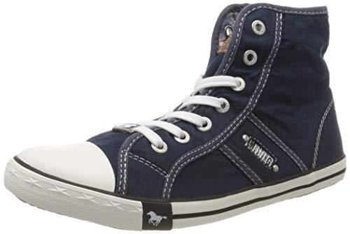 MUSTANG Damen 1099-502-800 Hohe Sneaker, Blau (Dunkelblau 800), 40 EU