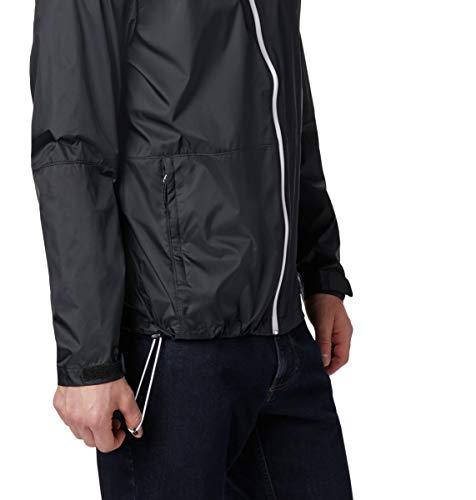 Columbia Men's Roan Mountain Jacket, Black/White, Large