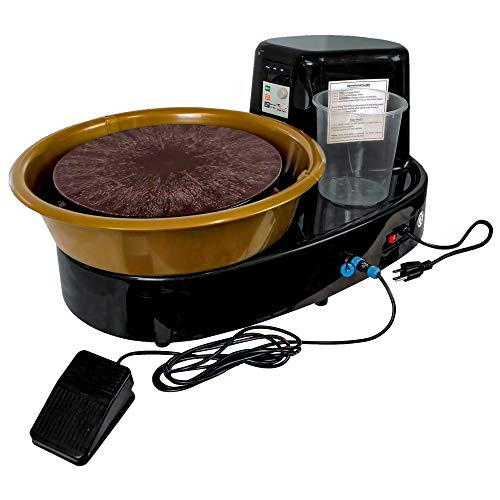 U.S. Art Supply 3/4-HP Table Top Pottery Wheel with LCD Wheel Speed Display - Includes Foot Pedal and 11' Bat - Reversible Spin Direction - Ceramics Clay Pot, Bowl, Cup, Art