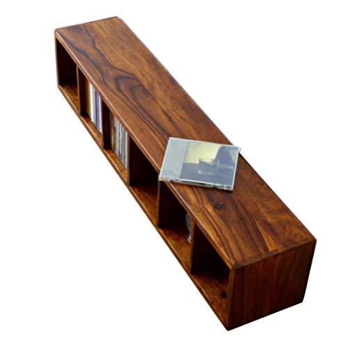 CDラック 無垢 木製 コンパクト スリム おしゃれ インドのウッドCDラック [kan8822]