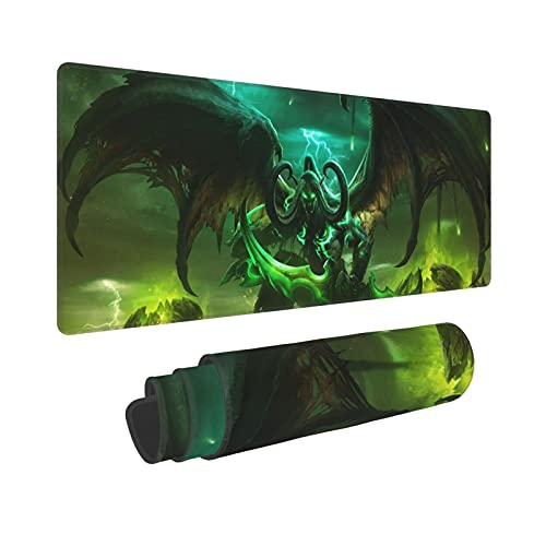 Large Gaming Mouse Pad for Laptop, Soft Non Slip Rubber Base Computer Keyboard Pad Work Desk Mat World of Warcraft (4)