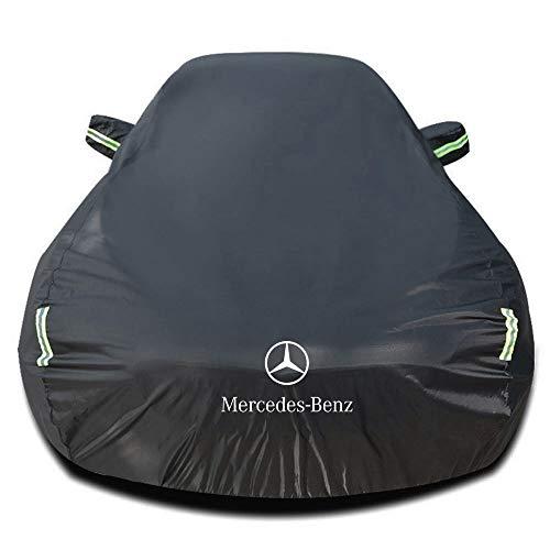 Autoabdeckung Kompatibel mit Mercedes-Benz SLK 230 Kompressor ROADSTER, Wasserdicht Autoabdeckplane Abdeckung Plane Autoplane Vollgarage Autogarage mit Aufbewahrungstasche, schwarzes Silber