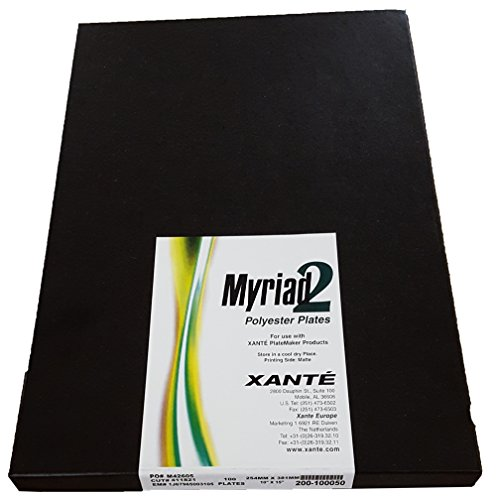 Xante Myriad 2 Polyester Laser Offset Printing Plates 12' x 18' - 100 Pack - All Sizes Available