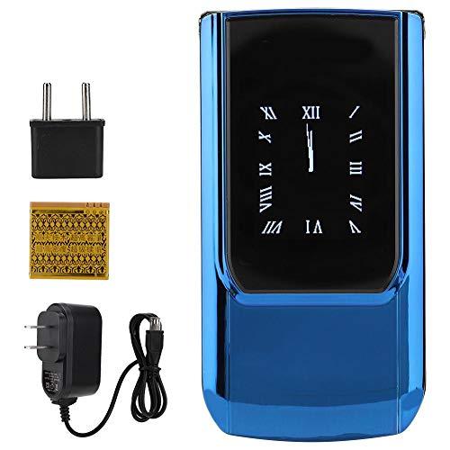 Ong Telefono Cellulare, Tastiera Blu a Doppio Schermo 2,6 Pollici HD Touch Screen Pratico Telefono Cellulare, Studenti Bambini Adulti per Anziani(European regulations)