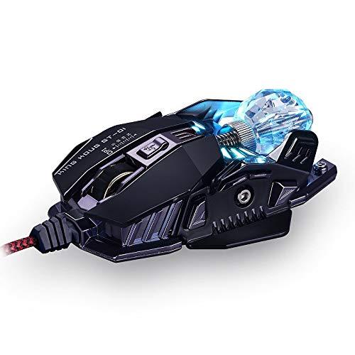 weichuang Ergonomische Gaming-Maus, ergonomisch, kabelgebunden, 8 Tasten, LED, 4000 dpi, optische...