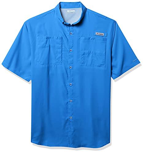 Columbia Men's Standard PFG Tamiami II UPF 40 Short Sleeve Fishing Shirt, Vivid Blue, X-Large