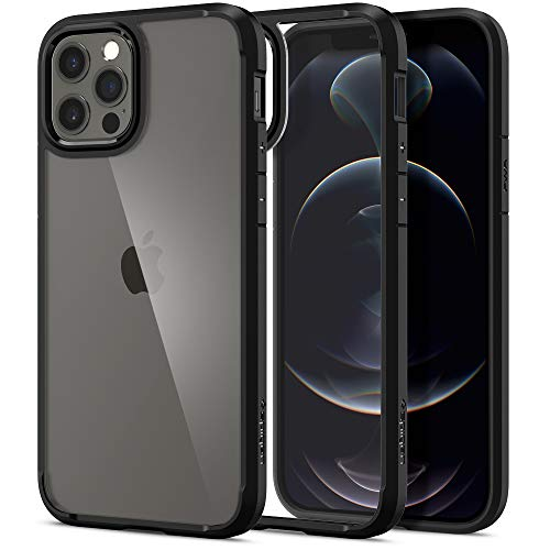 Spigen Funda Ultra Hybrid Compatible con iPhone 12 y Compatible con iPhone 12 Pro- Negro