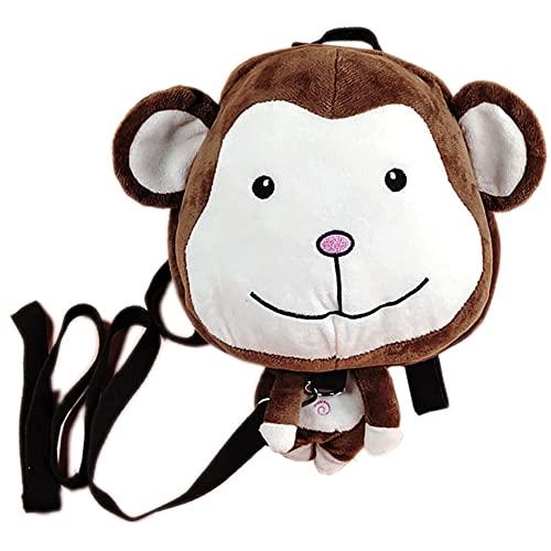 XCYG Correa de niños, Mochila Animal Reins, con Mochila y Pulsera Anti-perdida para bebés Desmontable, Adecuado para Llevar a los niños al zoológico,Monkeys