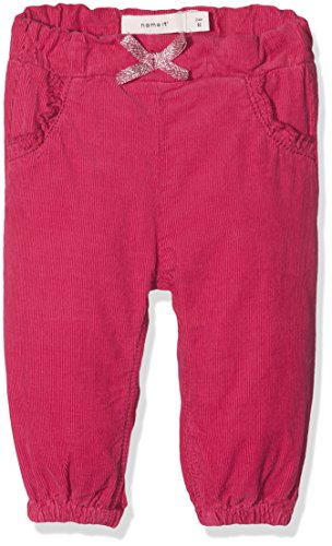 Name It Nitatilla Cord Reg/r Pant F NB Pantalon, Rose Anemone, 62 Bébé Fille