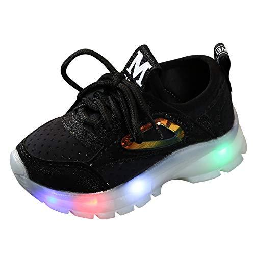 TTMall Scarpe Bambino con Luci,Sneakers Luminose Bimba Scarpe con Luci LED Bambina,Carica Lampeggiante Luminosi Running Sneakers Outdoor LED Multisport Ginnastica Running Shoes,21-30