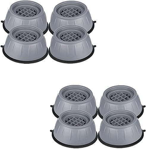 Anti-Vibrations-Waschmaschinenunterstützung Schockgeräuschunterdrückende Füße rutschen ab, Anti-Rutsch-Gummi-Waschmaschinen-Fußpolster, Anti-Walk-Trockner-Waschmaschinen-Vibrationspads (8 Stück)