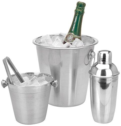 Service à Cocktail avec Shaker en Acier, Argent