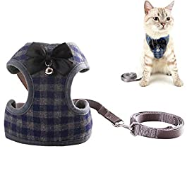 WESEEDOO Cat Harness And Leash Dog Harness Dog Vest Harness Adjustable Dog Harness Cat Harness With Lead Puppy Harness For Small Dogs