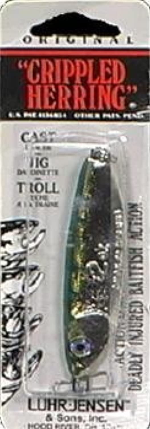 Luhr Jensen Crippled Herring Lure, Nickel Neon Green Back, 2-Inch by South Bend Sporting Goods