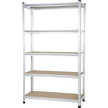 AmazonBasics Medium Duty Shelving Double-Post Press Board Shelf - 48 x 18 x 72