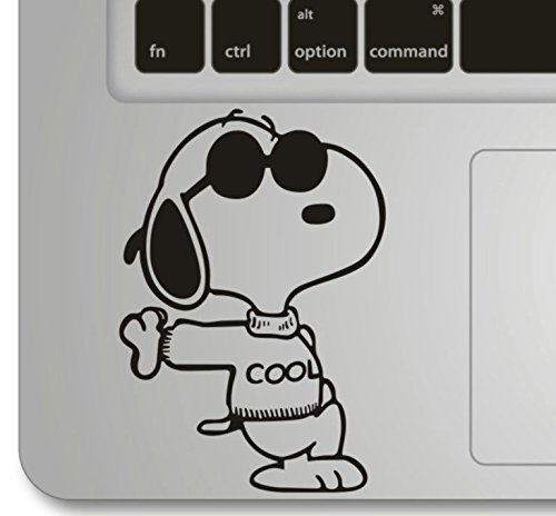 VATI Leaves Removable Snoopy Cool Humor Handmade Partial Art Skin Cool Design Vinyl Decal Sticker for Trackpad Keypad Of Apple Macbook Pro Air Mac Laptop