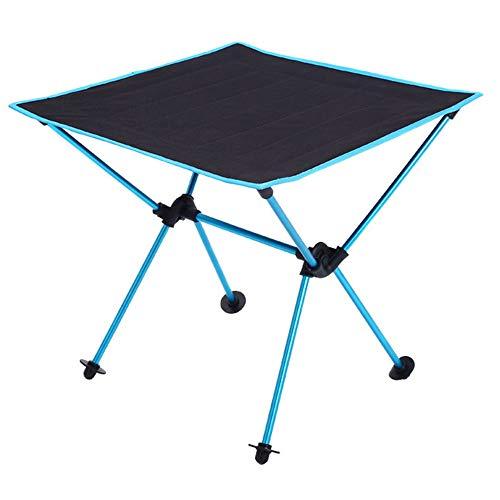 KKDWJ Acampa Plegable Mesa, Mesa de jardín portátil Oxford Tela con Bolsa de Transporte, para la excursión al Aire Libre Barbacoa o Pesca,Azul