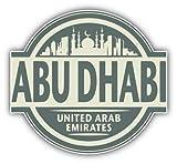 Abu Dhabi City United Arab Emirates Label Travel - Sticker Graphic - Auto, Wall, Laptop, Cell, Truck Sticker for Windows, Cars, Trucks