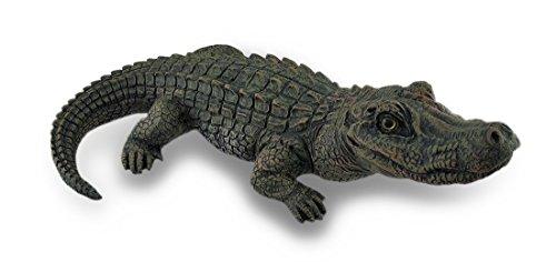 Lifelike Alligator Statue Gator Garden Decoration 20 in.