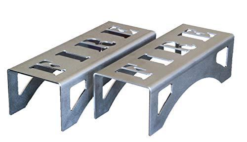 Chenets compacts pour poêles et inserts, design moderne et épuré « FIRE »