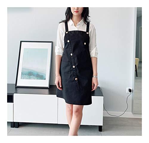 JIAN Schürzen Stylist Schürze Adjustable Unisex Cobbler Uniformen mit Taschen-Kunst-Kittel Schürzen for Frauen Kosmetikerinnen for Berufsbekleidung (Farbe : B1, Size : 63 * 83cm)