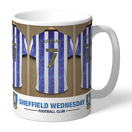 Personalised Official Sheffield Wednesday FC Dressing Room Mug