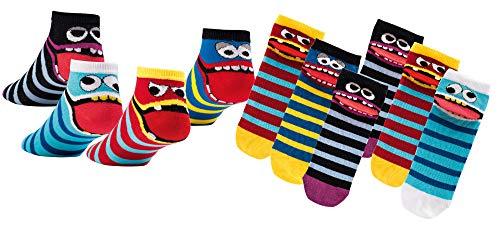 Socks 4 Fun Kinder Sneaker,23-26,Mehrfarbig4