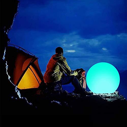 Katyma LED Leuchtkugel wasserdichter Kugellampe RGB Colorful Sphere Kugel Lampe Strandball mit ferngesteuerter für Partys, Pool, Strandpartys, Raves