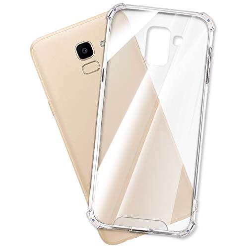 mtb more energy® Custodia Crystal Armor per Samsung Galaxy J6 2018 (SM-J600, 5.6'') - Hard PC Back & Soft Silikon Bumper - Angoli rinforzati - Trasparente - TPU PC Case Cover
