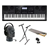 Casio WK-7600 76-Key Premium Keyboard Pack with Audio-Technica ATH-T200 Headphones , Power Supply, Stand and Dust Cover
