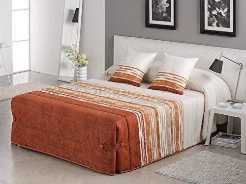 Tejidos JVR - Edredón Conforter Fancy Cama 90 - Color Teja