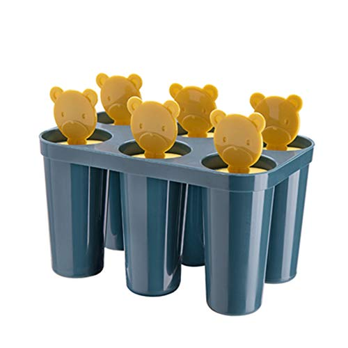 GLADMIN Ice Cream Mould Home-Made Ice Cube Ice Sucker Ice-Cream Mould Ice Stick Ice Cream Ice Cube Ice Cream Model (Color : Navy blue)