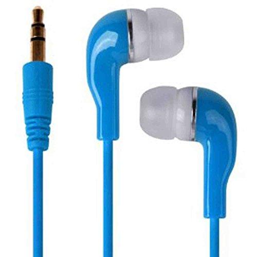 C63® Écouteurs Bleus 3,5 mm pour Apple iPod Touch, iPhone 4S, 5S, iPhone 5C, iPhone 6, iPad Air, iPad Mini MP3 et MP4 Player, Lecteur DVD, écouteurs