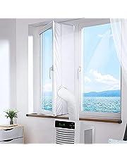 ZEREA Fönstertätning universell fönstertätning för bärbar luftkonditionering och torktumlare, kompatibel med alla mobila luftkonditioneringsenheter, enkel att installera, inget behov av borrhål (300 cm)